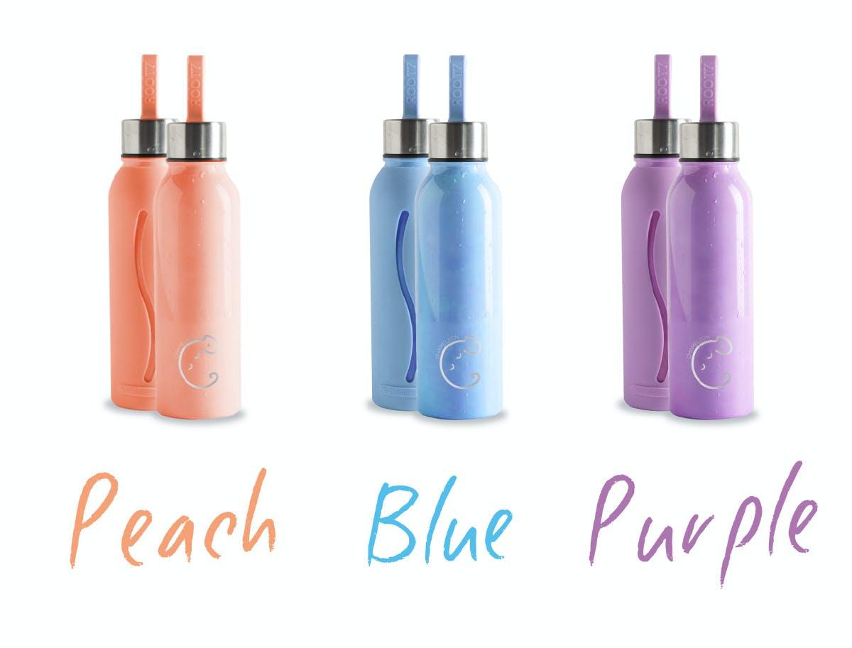 カラーはピーチ、ブルー、パープルの3色