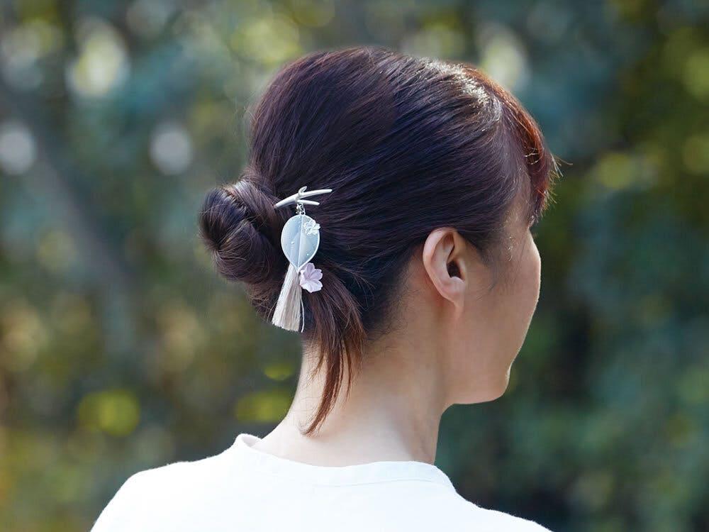 『[cocur] SAKURA(コクール・桜)』  かんざし:そっと着用
