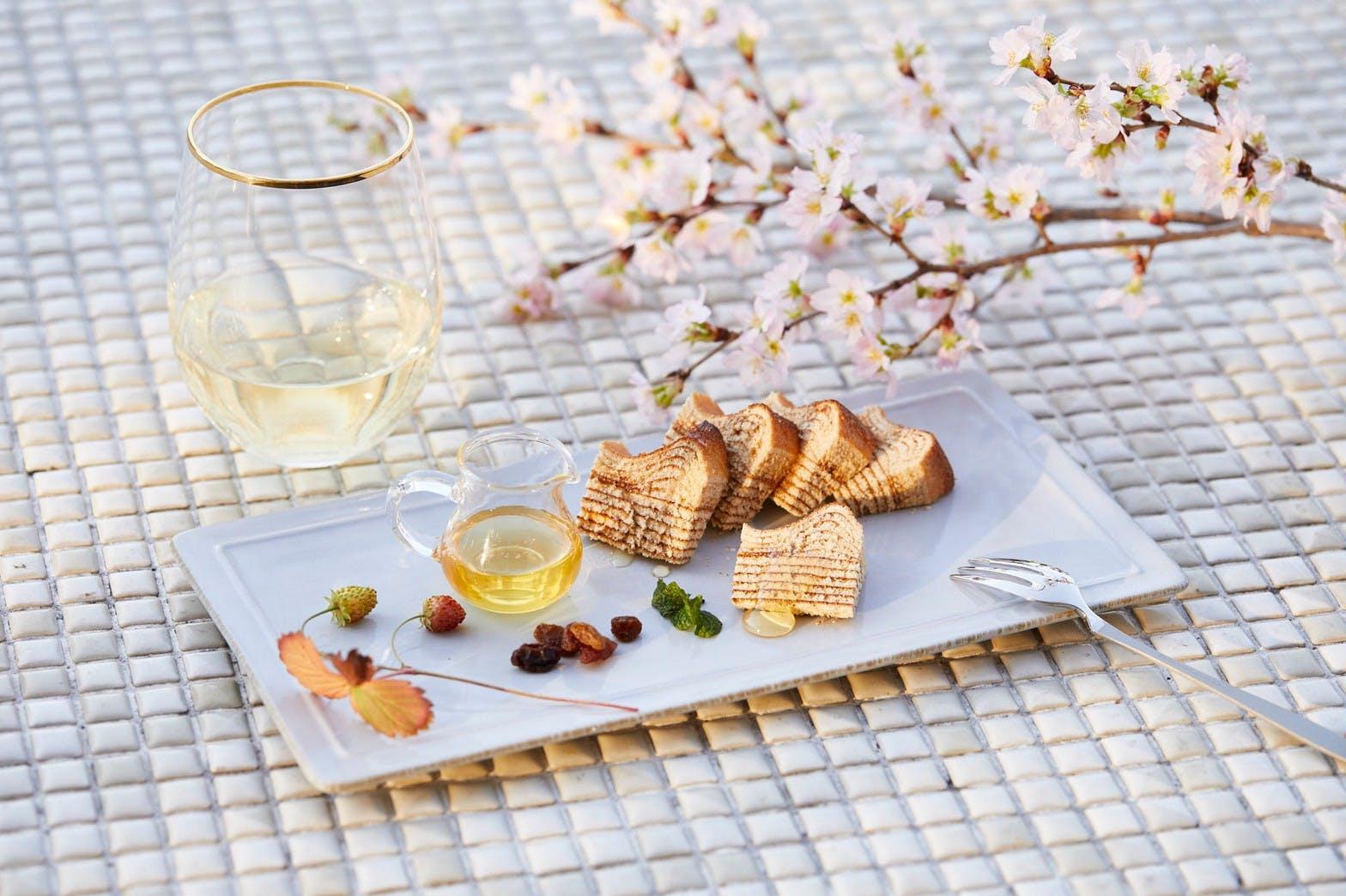 花香るバームクーヘンの画像