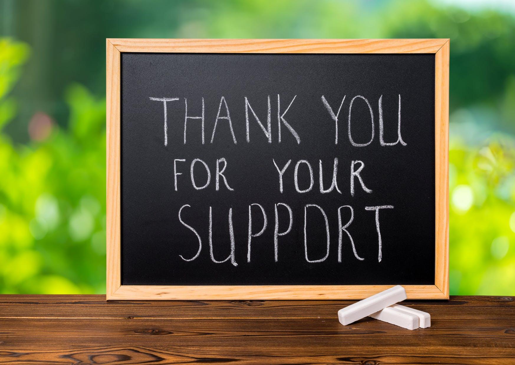 ご支援ありがとうございます
