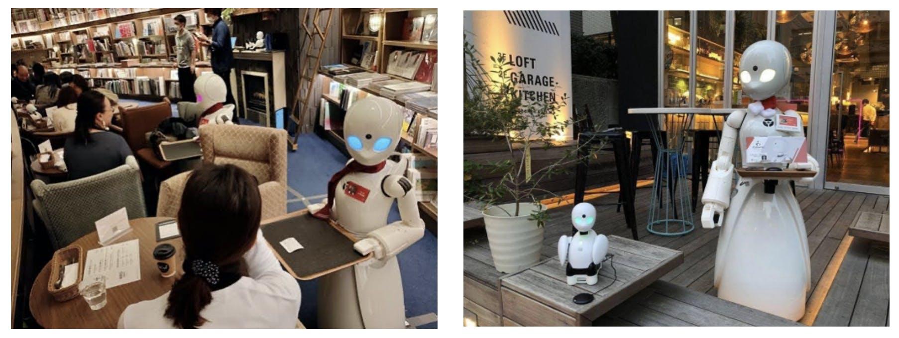 分身ロボットカフェの様子