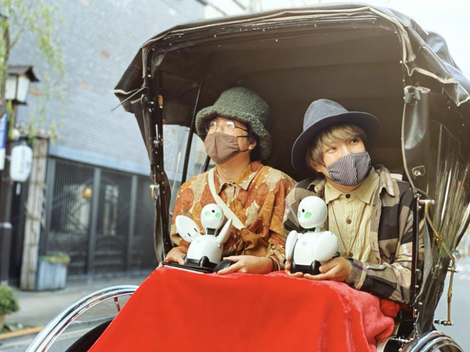 県外、海外の方がOriHimeを使って東京観光をする