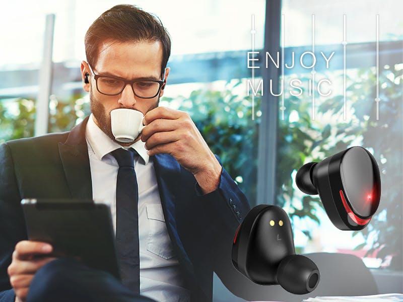 Bluetooth5.0強化版ワイヤレスイヤホン!高音質で接続性が良い!