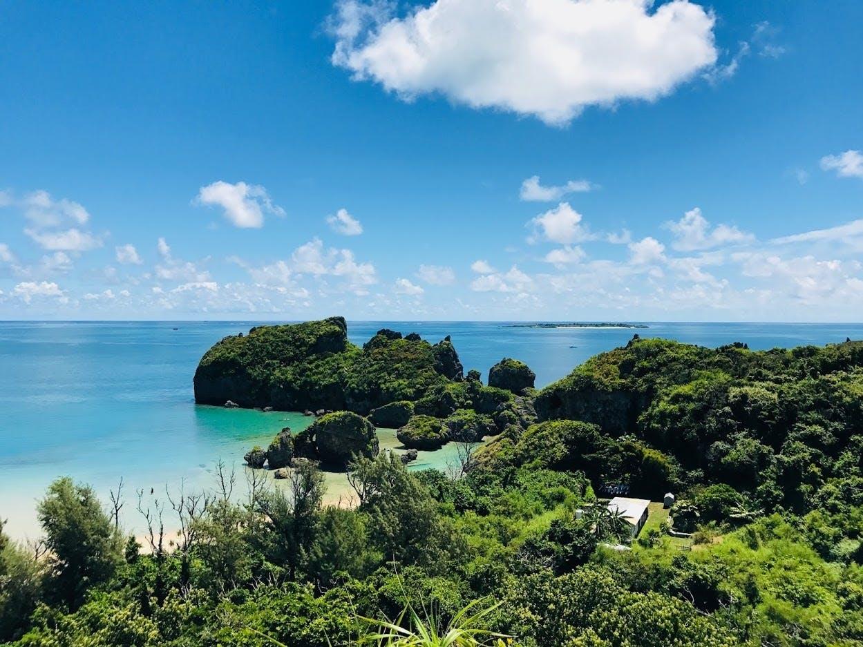 浜比嘉島の展望台からの景色