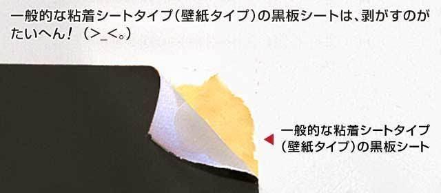 粘着シートタイプ(壁紙タイプ)の黒板シート