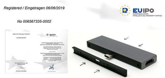 ヨーロッパのデザイン特許を取得