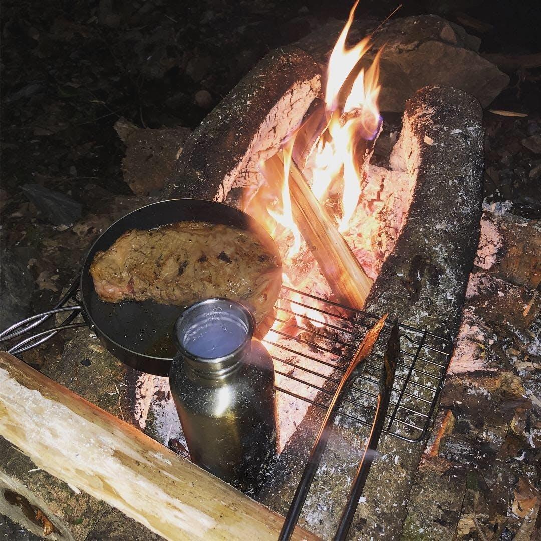 台 焚き火 ブッシュ クラフト