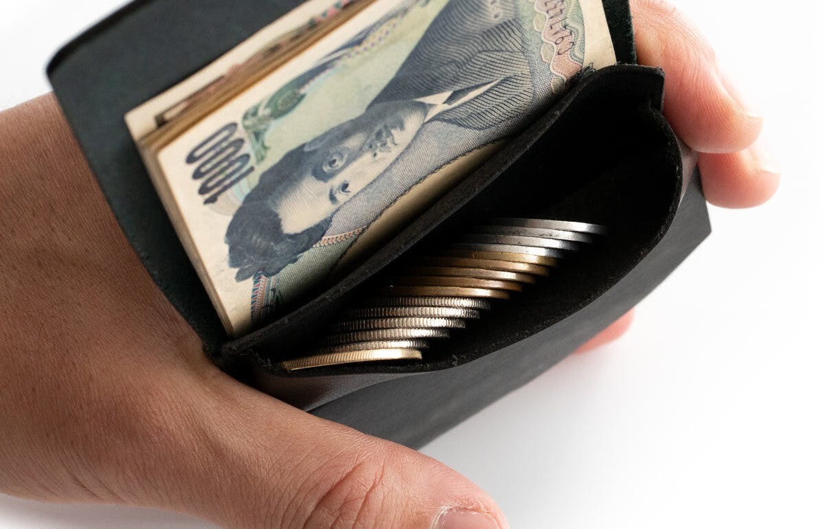 小さな【薄い財布】HITOE Fold コイン