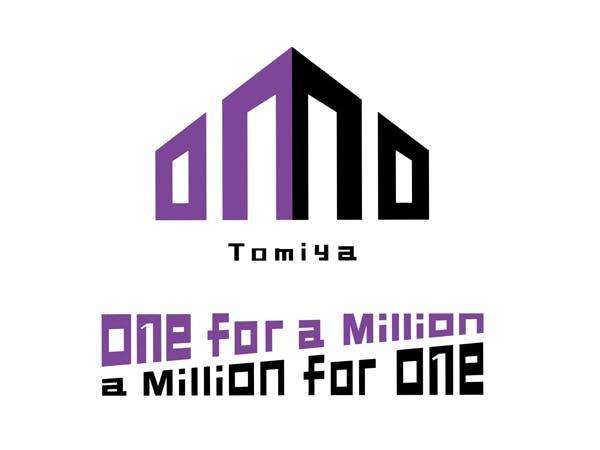 OMO Tomiyaのロゴです。OMOは「One for a Million, a Million for One」