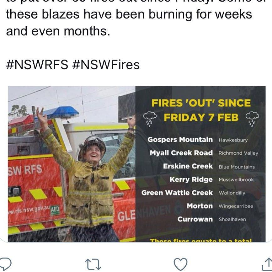 鎮火 オーストラリア 火災