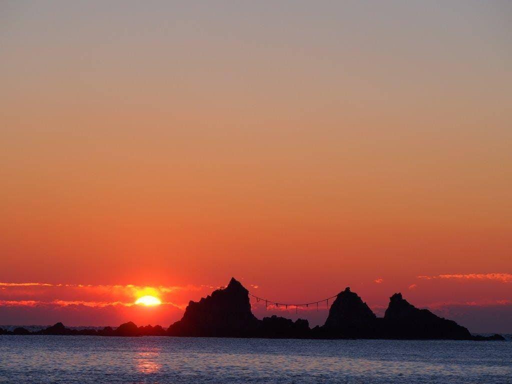 真鶴岬 初日の出 デスクトップ