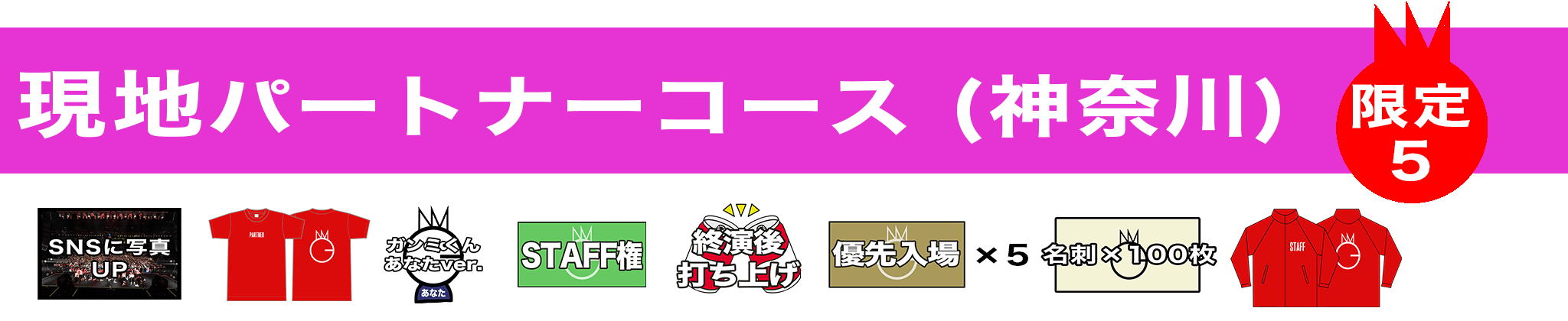 クラファン リターン 現地パートナーコース 神奈川