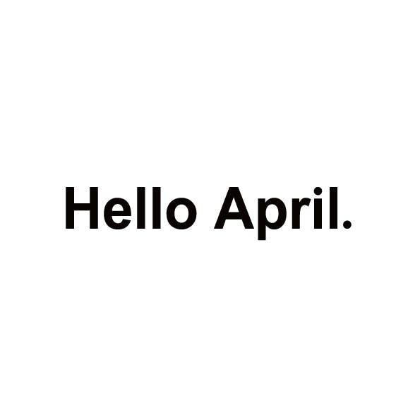 Hello april ロゴデザイン