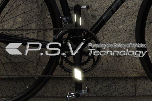 夜間の走行を安全にする革新的なデザインの自転車用リフレクターキット