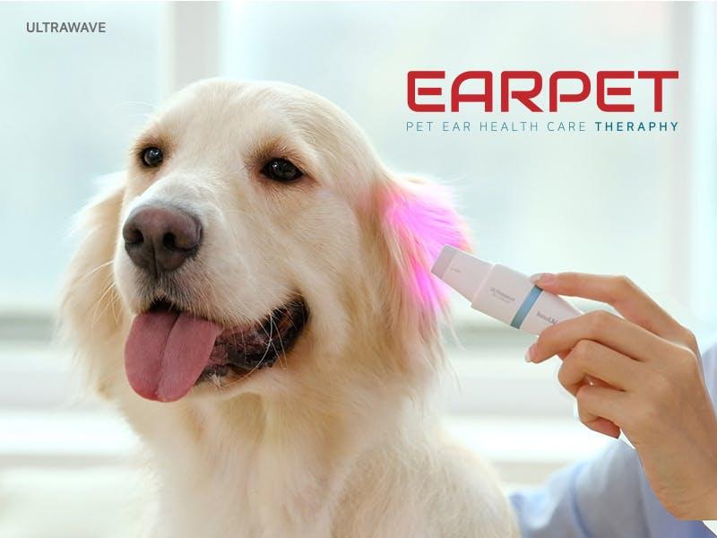 騒音がないから怖がらない!ペット専用の光セラピー耳ケア機「EAR PET」