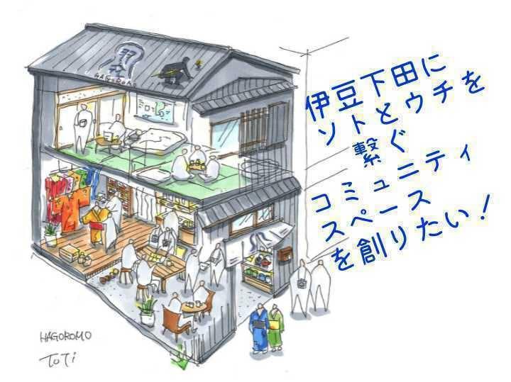 伊豆下田の空き家を改修し、地元の人と 来訪者が交流できるスペースを創りたい!