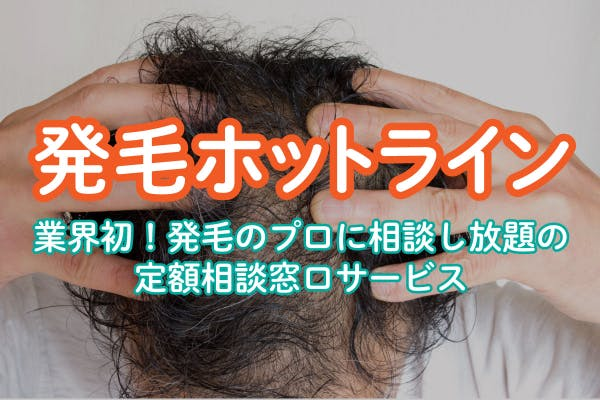薄毛の相談窓口 - 発毛ホットライン