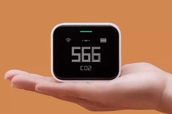 持ち運び簡単確かな性能の小型充電式CO2花粉空気測定器