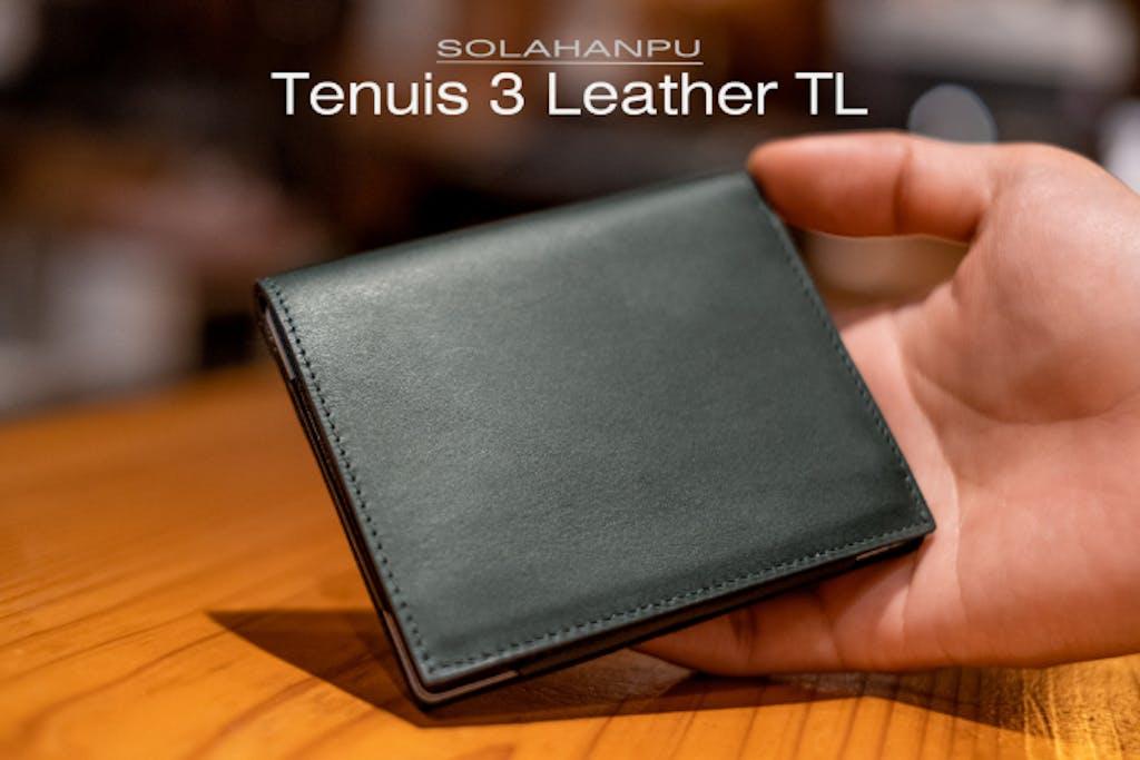 極薄6ミリ!全面レザー採用の超薄型財布「Tenuis3 Leather TL」