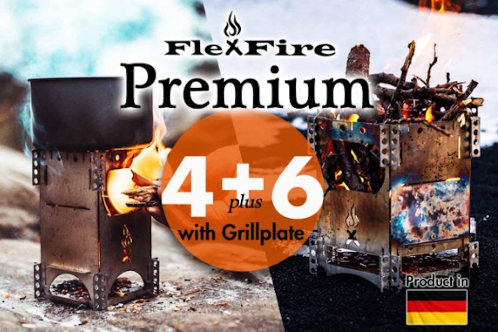 【FlexFire Premium】焚き火を持ち歩く 極薄・携帯・多機能焚火台