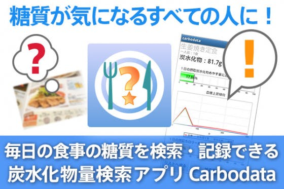糖質が気になるすべての人に!炭水化物量検索アプリCarbodata開発