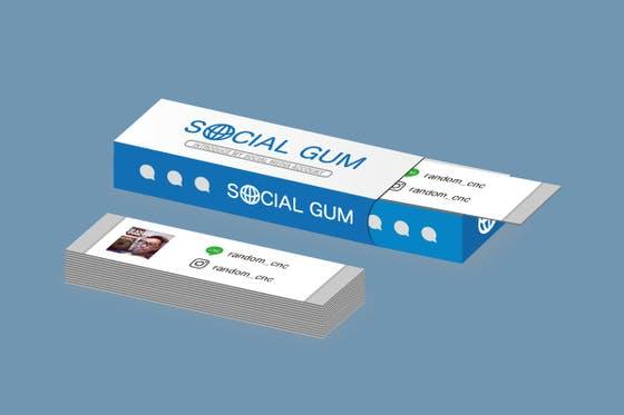 ガムが名刺に!SNS専用名刺ソーシャルガムで、コミュニケーションの幅を広げたい